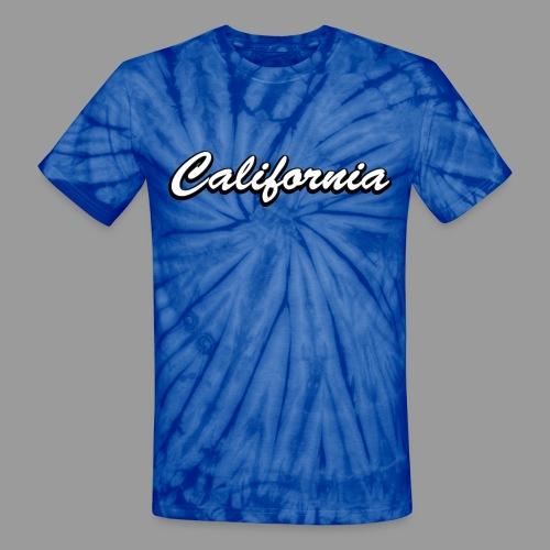 California Text - Unisex Tie Dye T-Shirt