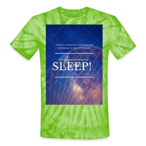 Sleep Galaxy by @lovesaccessories - Unisex Tie Dye T-Shirt