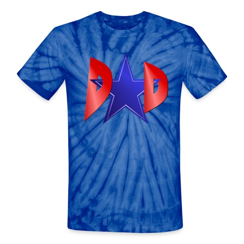Blue Star Dad - Unisex Tie Dye T-Shirt