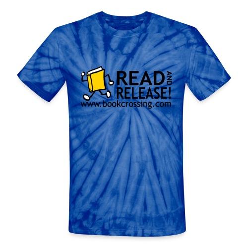 bookcrossingballycumberreadandrelease3co - Unisex Tie Dye T-Shirt