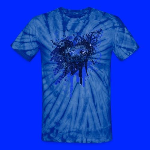 Vintage Cannonball Bingo Drip Blue - Unisex Tie Dye T-Shirt
