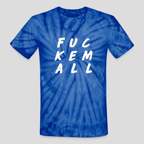 FUCKEMALL White Logo - Unisex Tie Dye T-Shirt