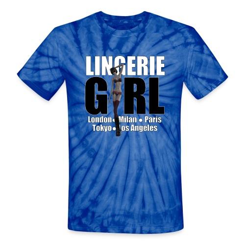 The Fashionable Woman - Lingerie Girl - Unisex Tie Dye T-Shirt