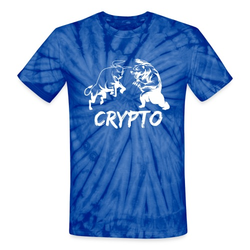 CryptoBattle White - Unisex Tie Dye T-Shirt