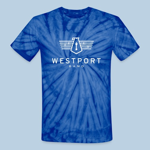 Westport Band White on transparent - Unisex Tie Dye T-Shirt