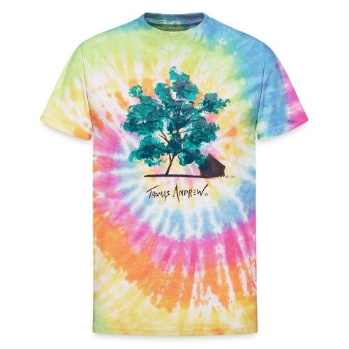 Teal Tree PNG - Unisex Tie Dye T-Shirt