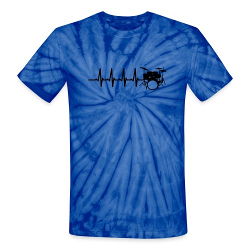 Drums Heartbeat Funny drummer - Unisex Tie Dye T-Shirt