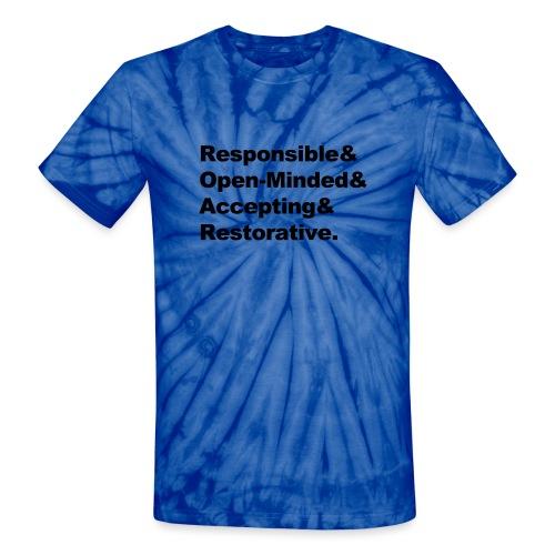 ROAR Helvetica - Unisex Tie Dye T-Shirt