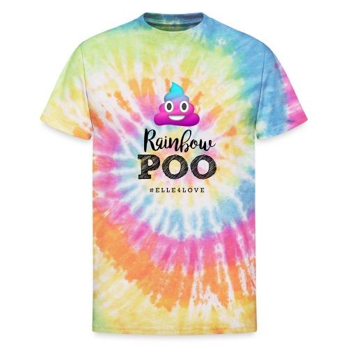 Rainbow Poo - Unisex Tie Dye T-Shirt