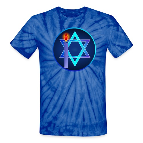 Star Of David and Light - Unisex Tie Dye T-Shirt