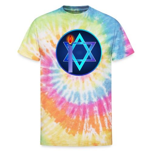 Star Of David and Light - Unisex Tie Dye T-Shirt