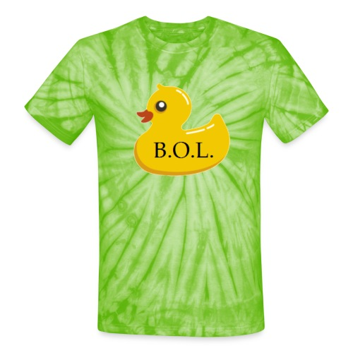 Official B.O.L. Ducky Duck Logo - Unisex Tie Dye T-Shirt