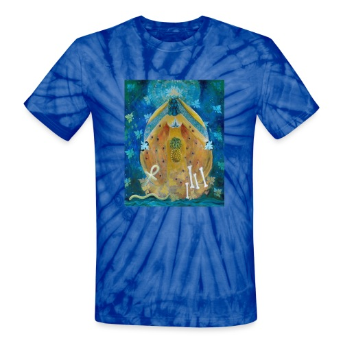 Cosmic Shakti Design by Arathi Ma - Unisex Tie Dye T-Shirt