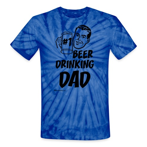 #1 Beer Drinking Dad - Unisex Tie Dye T-Shirt