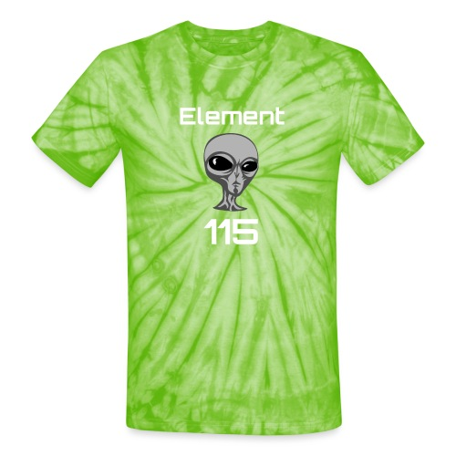 Element 115 Moscovium Alien Fuel - Unisex Tie Dye T-Shirt