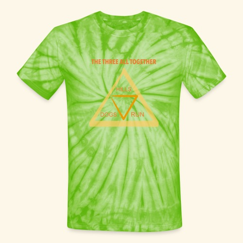 Run4Dogs Triangle - Unisex Tie Dye T-Shirt