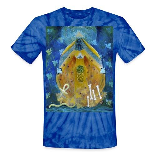 Cosmic Shakti Goddess, Largest Size - Unisex Tie Dye T-Shirt