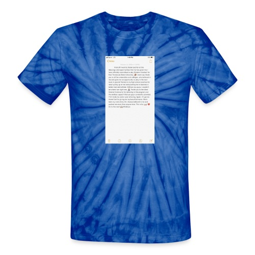 Text from a Football Commit - Unisex Tie Dye T-Shirt