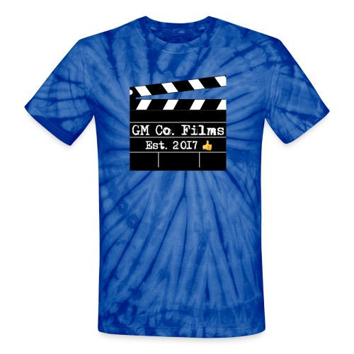 G M co Films logo + Subscribe combo - Unisex Tie Dye T-Shirt