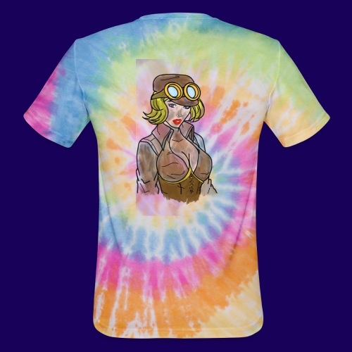 Steampunk girl - Unisex Tie Dye T-Shirt