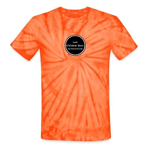 Crime Inc Small Design - Unisex Tie Dye T-Shirt