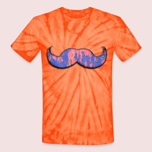mustache - Unisex Tie Dye T-Shirt
