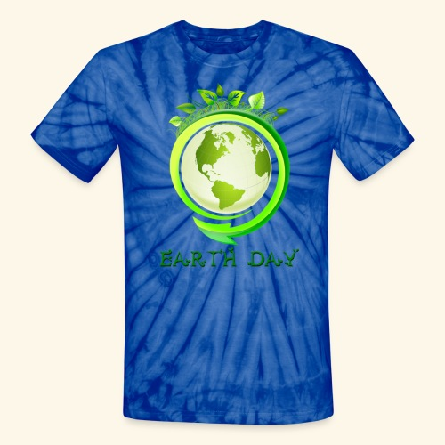 Happy Earth day - 2 - Unisex Tie Dye T-Shirt