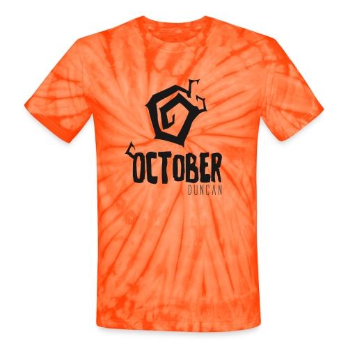 October Duncan2 01 png - Unisex Tie Dye T-Shirt