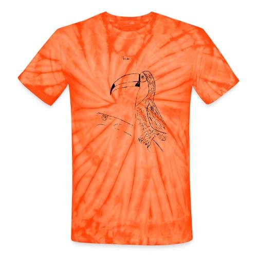 Stephen's hand drawn Toucan - Unisex Tie Dye T-Shirt