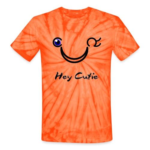 Hey Cutie Blue Eye Wink - Unisex Tie Dye T-Shirt