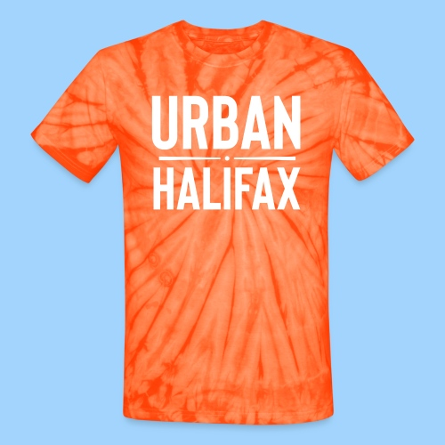 Urban Halifax logo (White) - Unisex Tie Dye T-Shirt