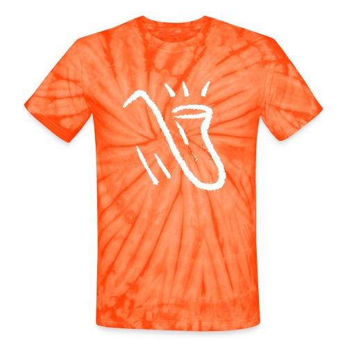 Saxophone white - Unisex Tie Dye T-Shirt
