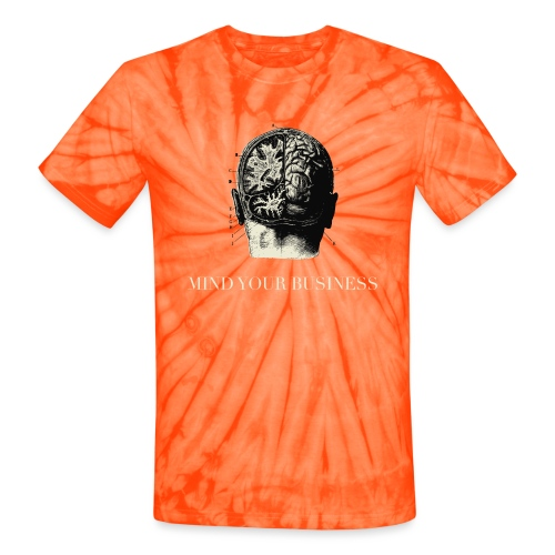 Mind Your Business Tee (V-Neck Unisex) - Unisex Tie Dye T-Shirt