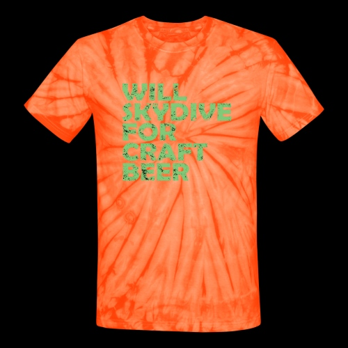 skydive for craft beer - Unisex Tie Dye T-Shirt