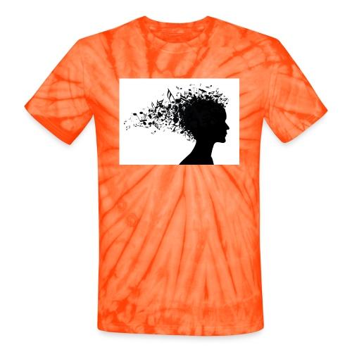 music through my head - Unisex Tie Dye T-Shirt