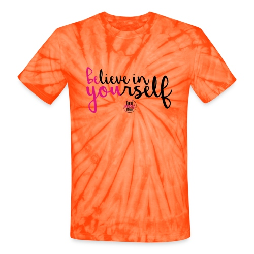 BE YOU shirt design w logo - Unisex Tie Dye T-Shirt