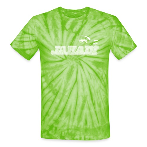 hadilogoWHITE - Unisex Tie Dye T-Shirt