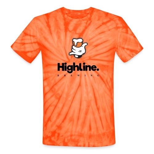 Highline Brewing Logo - Big - Unisex Tie Dye T-Shirt