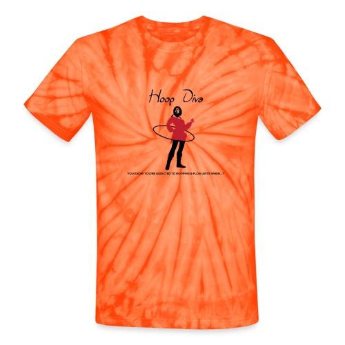 Hoop Diva - Red - Unisex Tie Dye T-Shirt