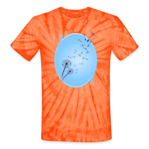 Dandelion on Baby Blue - Unisex Tie Dye T-Shirt