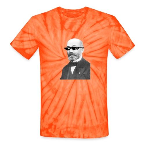 Zamenhof Shades (BW) - Unisex Tie Dye T-Shirt