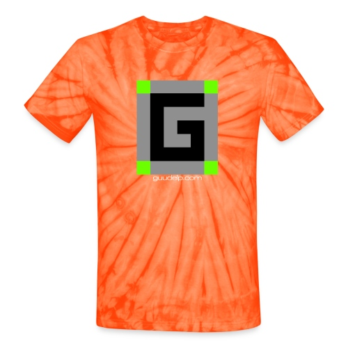 Guude Logo with White Text - Unisex Tie Dye T-Shirt