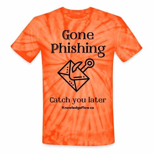 Gone Phishing - Unisex Tie Dye T-Shirt