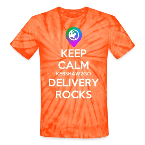 Keep Calm KC2Go Delivery Rocks - Unisex Tie Dye T-Shirt