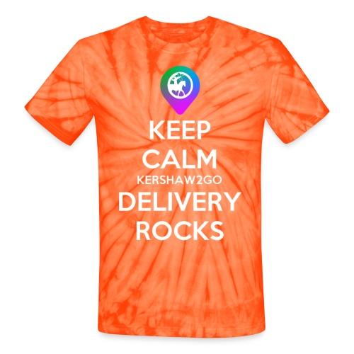 Keep Calm Kershaw2Go Delivery Rocks - Unisex Tie Dye T-Shirt