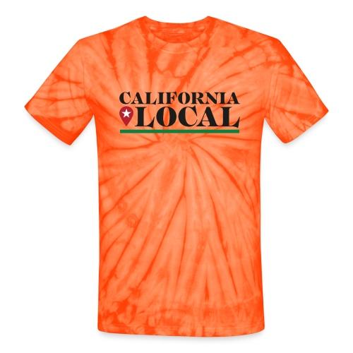 California Local Dark on Light - Unisex Tie Dye T-Shirt
