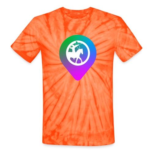 KC2Go Map Point - Unisex Tie Dye T-Shirt