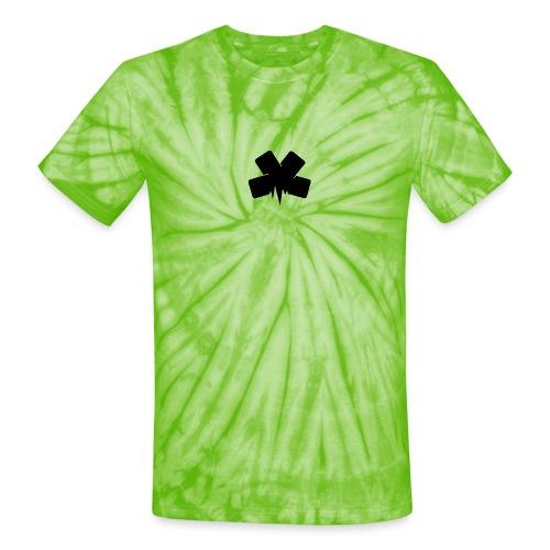 PixelSashay - Black Logo - Unisex Tie Dye T-Shirt