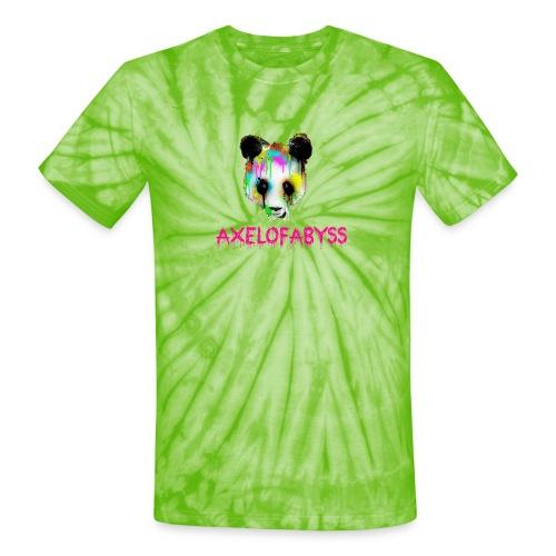 Axelofabyss panda panda paint - Unisex Tie Dye T-Shirt