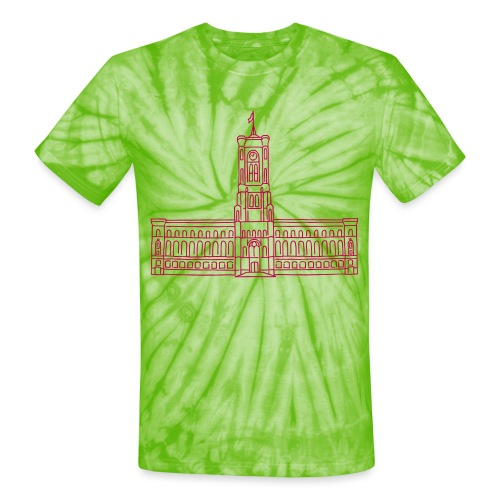 Red City Hall Berlin - Unisex Tie Dye T-Shirt